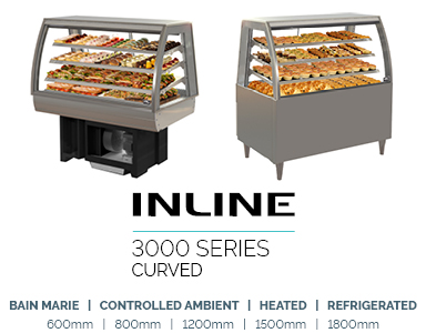 food display refrigerated inline 3000 Curved