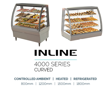 food display refrigerated inline 4000 Curved